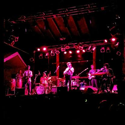The Motet performing at the Mishawaka Amphitheater on August 28th, 2015. Photo by Shelby Mehdinia