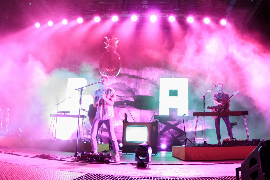 Glass Animals during their Red Rocks performance earlier this year. Shot by Daniel Keppe for Compose Yourself Magazine