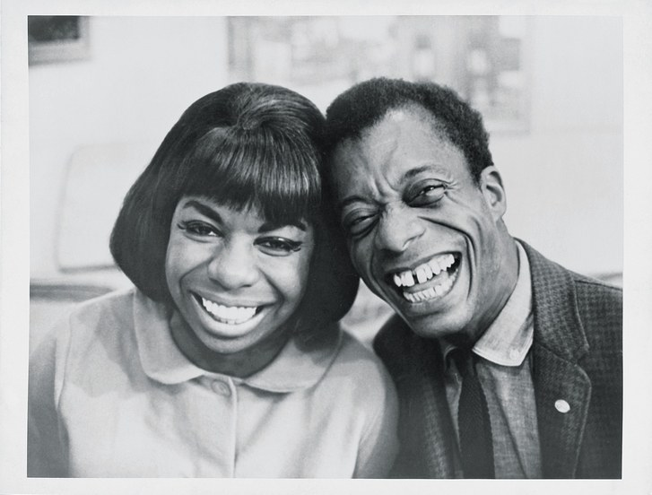 James Baldwin with Nina Simone